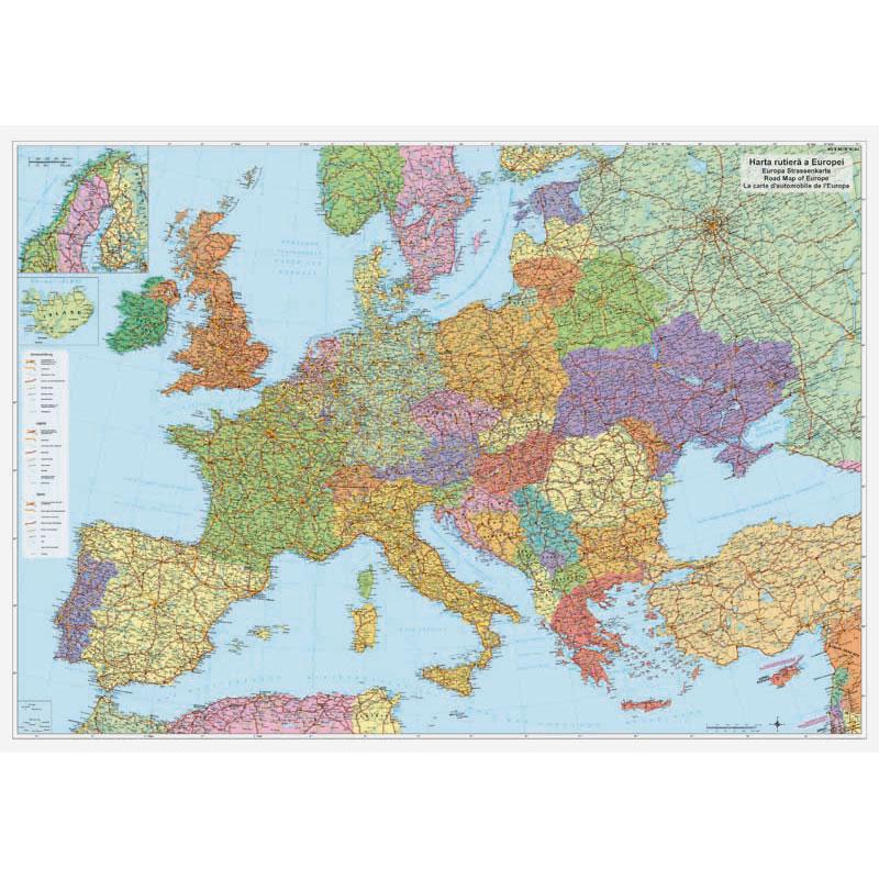 Harta rutiera de perete Europa